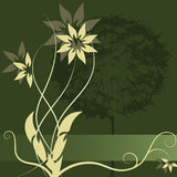 Conception d'étiquette de fleur de vecteur Image libre de droits