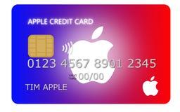 Conception d'une carte de crédit de couleur arc-en-ciel de salaire d'Apple Photo stock