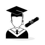 Conception d'université illustration d'obtention du diplôme et d'éducation Photo libre de droits