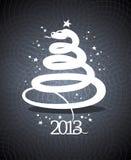 conception de 2013 ans sous la forme d'un serpent. Image libre de droits