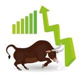 Conception de bénéfice, argent et concept de finances Image stock