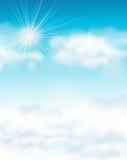 Conception de Backgroud avec le ciel bleu lumineux Images stock