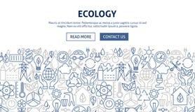 Conception de bannière d'écologie Photographie stock libre de droits