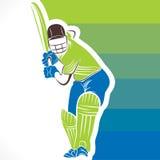conception de bannière de joueur de cricket Images libres de droits