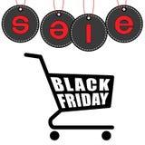 Conception de bannière de vente de Black Friday, illustration de vecteur Illustration Libre de Droits