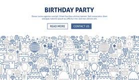 conception de bannière de fête d'anniversaire Photographie stock