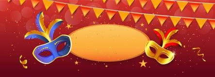 Conception de bannière de mardi gras illustration libre de droits