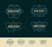 Conception de Barber Shop Logo Vintage Logo Illustration Libre de Droits