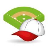 Conception de base-ball, sport et illustration d'approvisionnements Images libres de droits