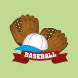 Conception de base-ball, sport et illustration d'approvisionnements Illustration de Vecteur