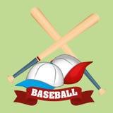 Conception de base-ball, sport et illustration d'approvisionnements Image libre de droits