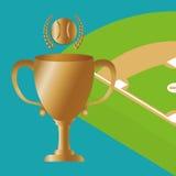 Conception de base-ball, sport et illustration d'approvisionnements Photos libres de droits