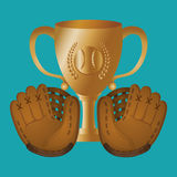 Conception de base-ball, sport et illustration d'approvisionnements Images stock