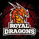 Conception de basket-ball de logo de sport de dragon Images libres de droits