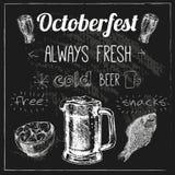 Conception de bière d'Oktoberfest Image libre de droits