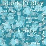 Conception de Black Friday avec la répétition de Teal Polka Dot Tile Pattern de retour Photo stock