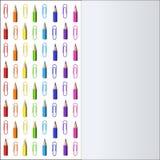 Conception de blanc avec des lignes de Pensils coloré et de trombones illustration libre de droits