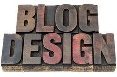 Conception de blog dans le type en bois Images stock