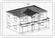 Conception de Blueprint d'architecte image libre de droits