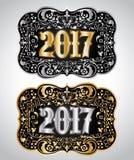 Conception de boucle de ceinture de cowboy de la nouvelle année 2017 illustration libre de droits