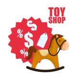 Conception de boutique de jouet Photos libres de droits