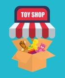 Conception de boutique de jouet Image libre de droits