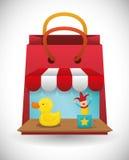 Conception de boutique de jouet Photos stock