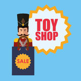 Conception de boutique de jouet Photo libre de droits