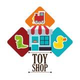 Conception de boutique de jouet Images libres de droits