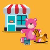 Conception de boutique de jouet Photographie stock libre de droits