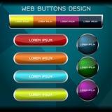 conception de boutons de Web Photo libre de droits
