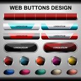 conception de boutons de Web Image libre de droits