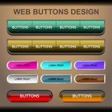 conception de boutons de Web Photographie stock