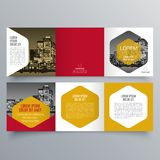 Conception de brochure, calibre de brochure Image stock
