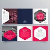 Conception de brochure, calibre de brochure Photos stock