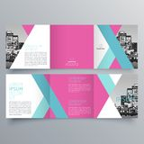 Conception de brochure, calibre de brochure Images stock
