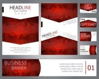 Conception de brochure de calibres, bannière, cartes cadeaux, cartes de visite professionnelle de visite Photos stock