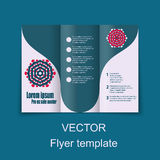 Conception de brochures pour infographic social, diagramme Photographie stock libre de droits