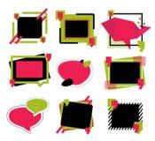 Conception de bulle de la parole Signe de symbole de citation Forme d'entretien de communication pour la bannière de dialogue Ill illustration de vecteur