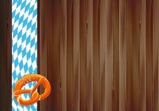 Conception de célébration d'Oktoberfest avec la vieille texture en bois Image libre de droits