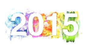 conception de célébration de l'année 2015-New Image libre de droits