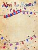 Conception de célébration de jour de bastille dans des couleurs patriotiques Images libres de droits