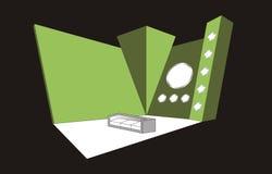 Conception de cabine illustration stock