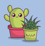 Conception de cactus de Kawaii Photo stock