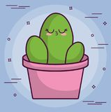 Conception de cactus de Kawaii Photos stock