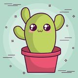 Conception de cactus de Kawaii Image stock
