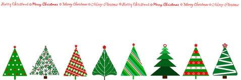 Conception de cadre avec des arbres de Noël dans une ligne Photos libres de droits