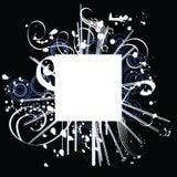 conception de cadre fleurie Image stock