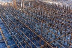 Conception de cage de renfort du renfort du cadre concret photographie stock