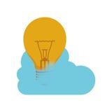 Conception de calcul d'ampoule et de nuage Photo libre de droits